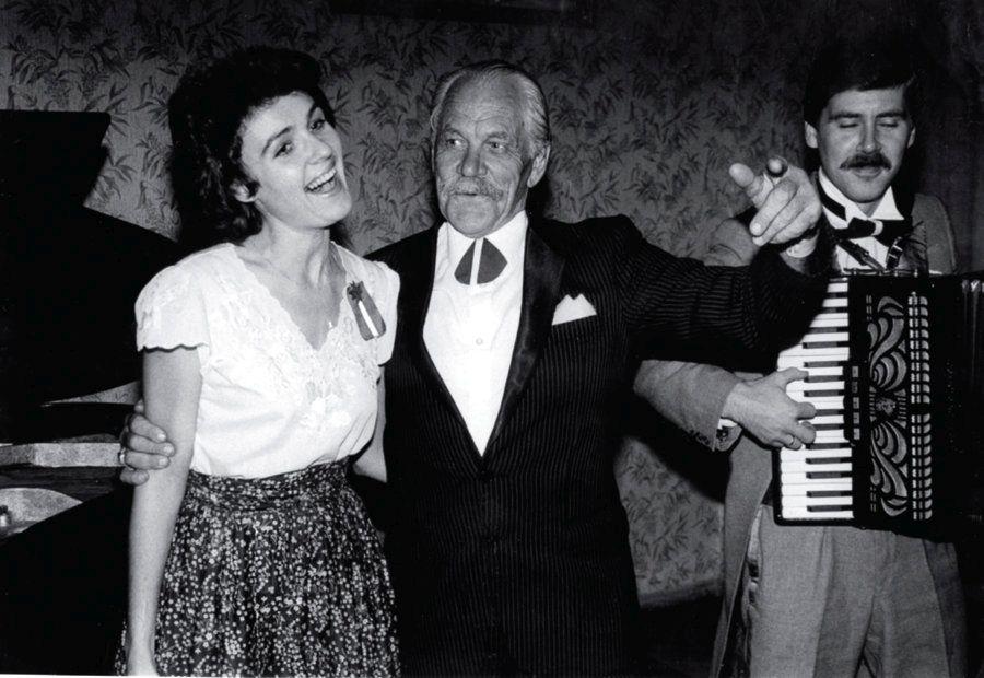 Indra Lintiņa un Eduards Rozenštrauhs 1988. gadā.