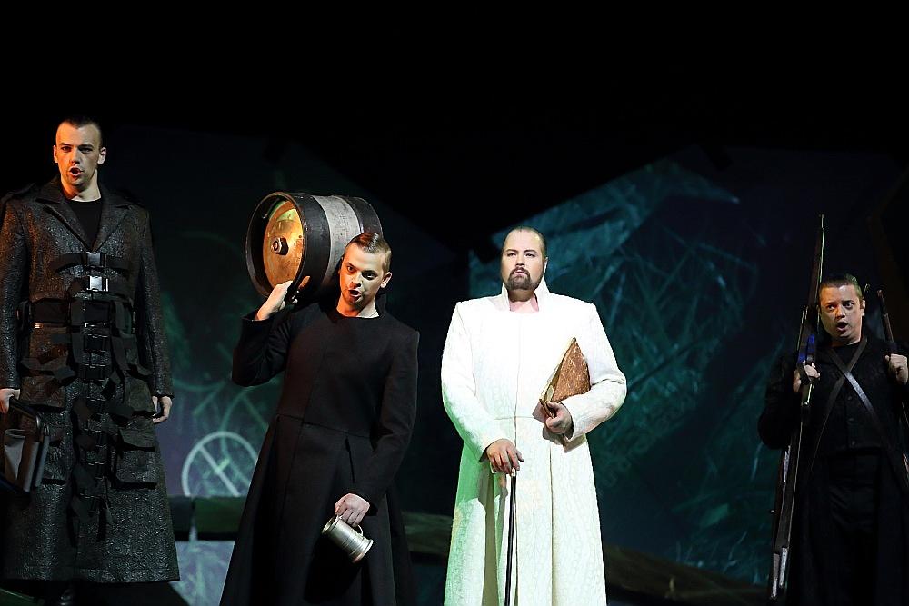"""Izvirzot Lielās mūzikas balvas nominantus, diskusijas žūrijā sit augstu vilni. Skats no R. Vāgnera operas """"Tanheizers"""", kas izvirzīta nominācijā """"Gada uzvedums""""."""