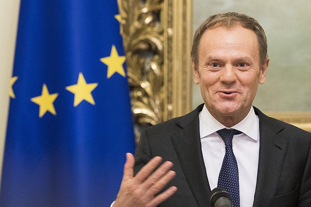 ES Padomes priekšsēdētājs Donalds Tusks.