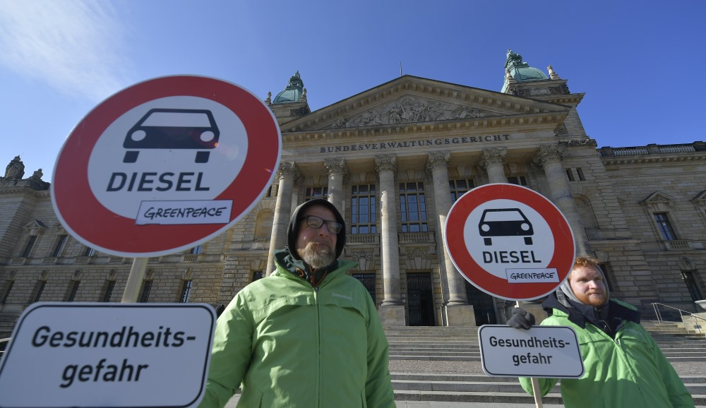 Leipcigā protesti pret gaisa piesārņojumu, 27.02.2018.