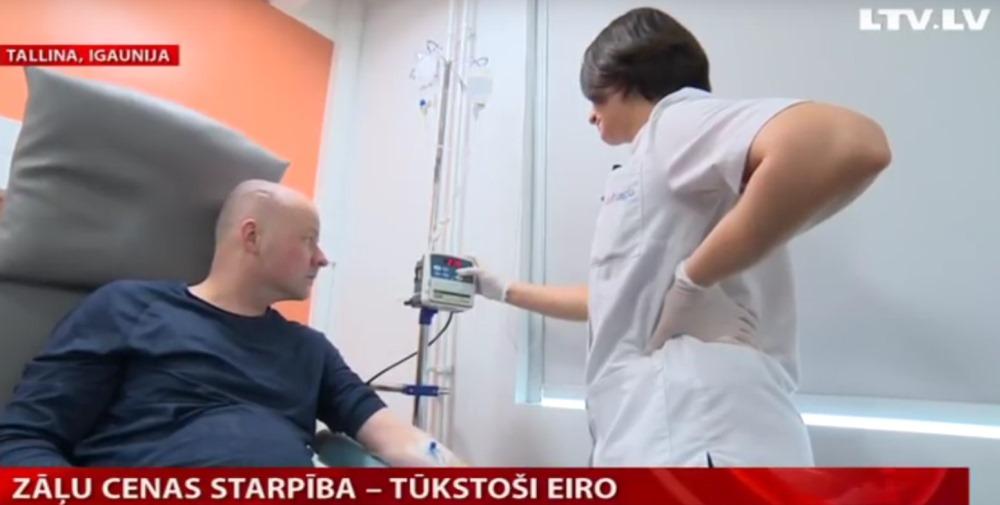 Vēža pacients Gatis Tauriņš pēc zālēm dodas uz Igauniju, jo tur var ietaupīt vairākus tūkstošus eiro nekā pērkot Rīgā.