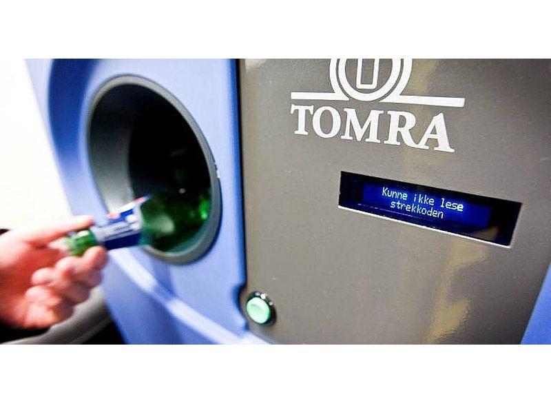 PET pudeļu automāts Norvēģijā.