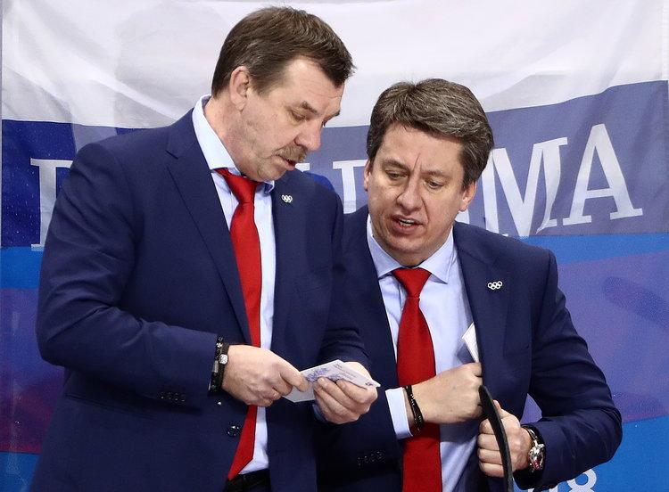 Oļegs Znaroks (pa kreisi) un Harijs Vītoliņš.