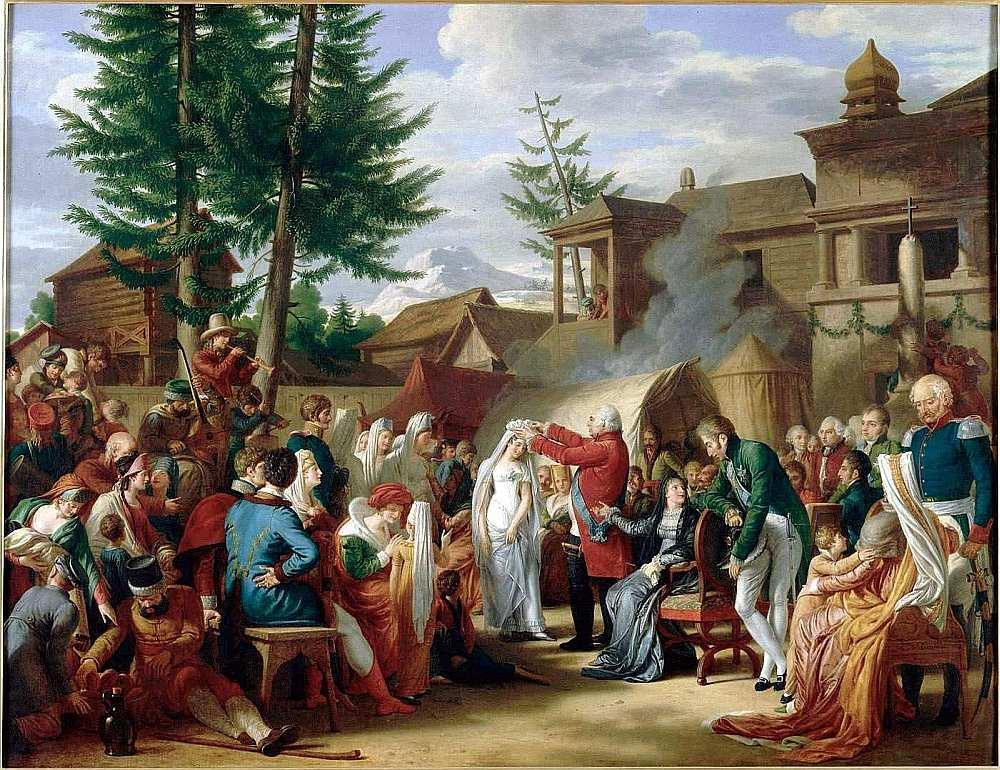 Luijs XVIII meitas kāzās Jelgavā 1799. gadā.