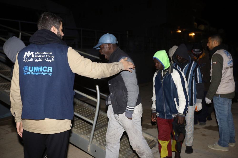 Ilustratīvs foto. Tripolē ierodas nelegālie migranti no Āfrikas valstīm.