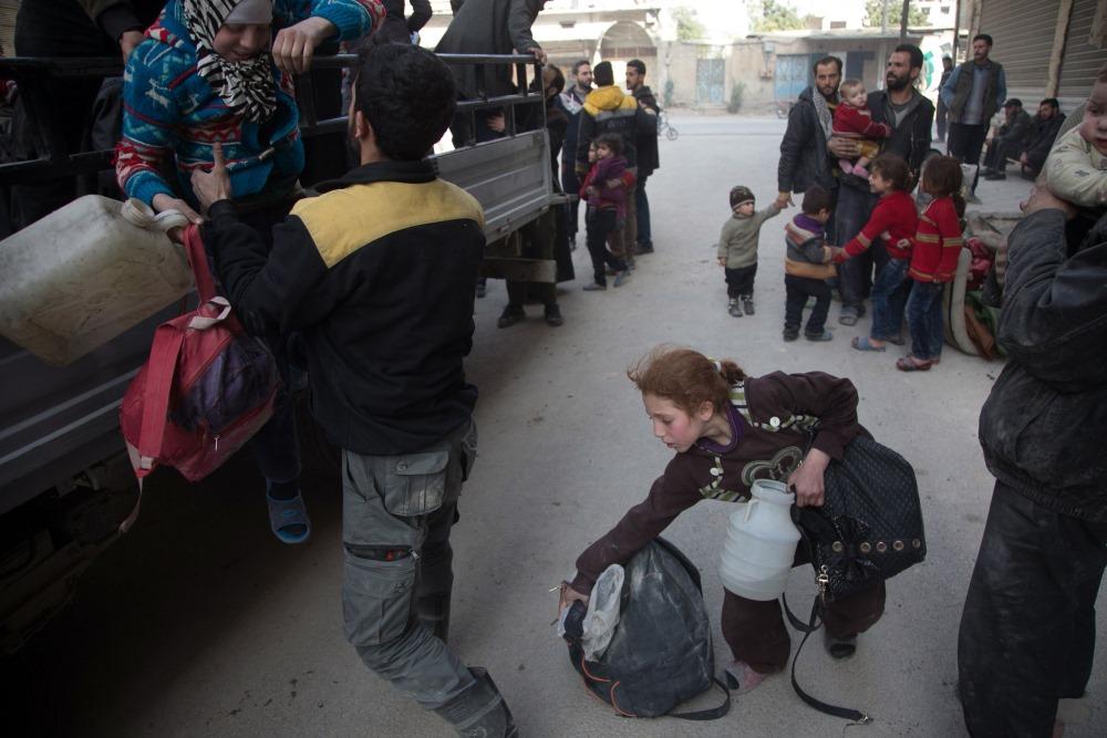 Brīvprātīgie palīdz Sīrijas karā cietušajām ģimenēm un bērniem, 04.03.2018.