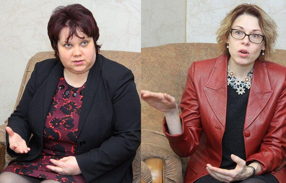 Daiga Avdejanova (no kreisās) un Olga Zeile
