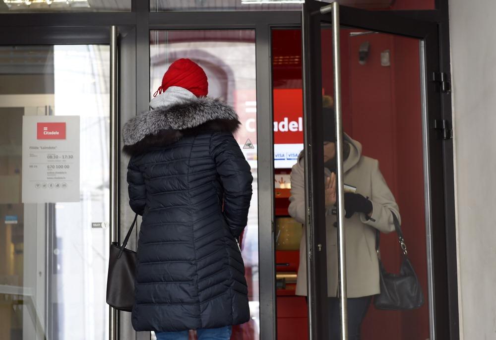 """""""Citadele"""" filiāle """"Laimdota"""" Rīgā, kur """"ABLV Bank"""" klienti var saņemt valsts garantēto atlīdzību."""