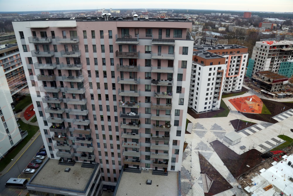 """Dzīvojamo māju komplekss """"Jaunā Teika"""" Rīgā."""