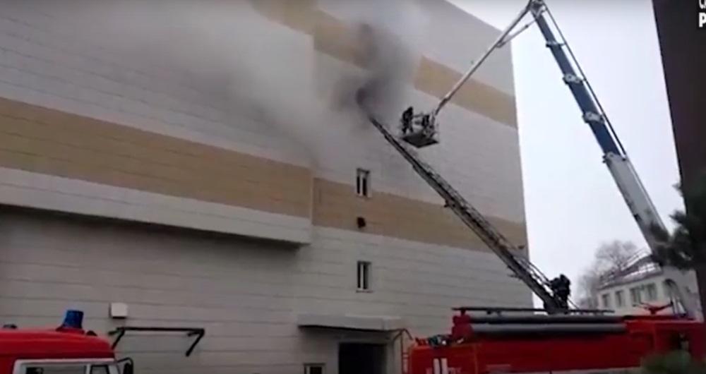 Krievijā deg tirdzniecības centrs, 5 cilvēki gājuši bojā, 25.03.2018.