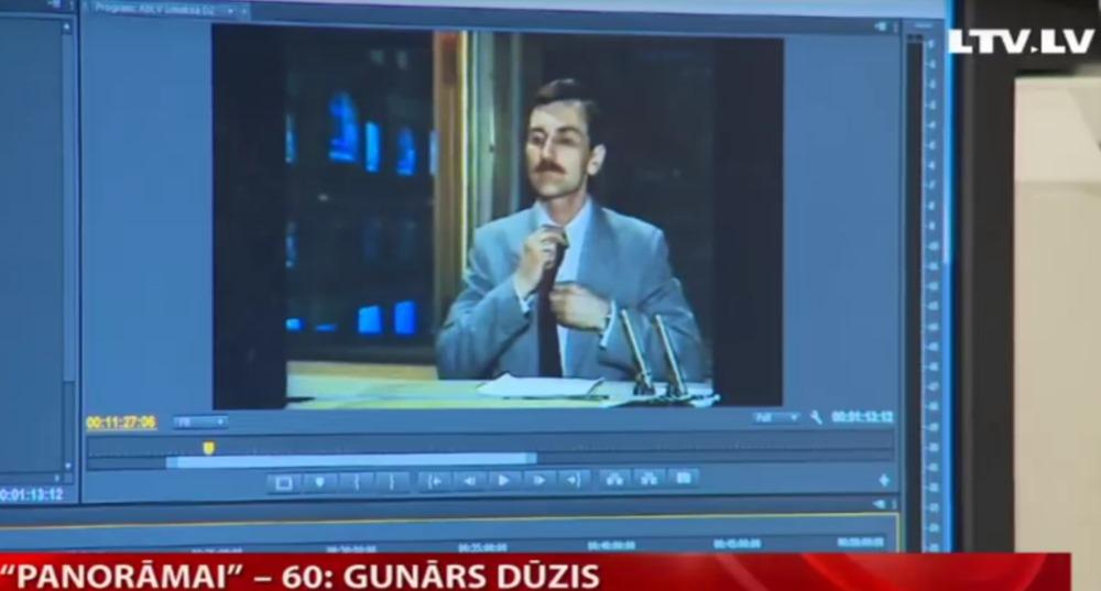 """Latvijas Televīzijā Gunārs Dūzis nostrādājis jau 45 gadus, tajā skaitā """"Panorāmā"""", kas šogad svin 60 gadu jubileju."""