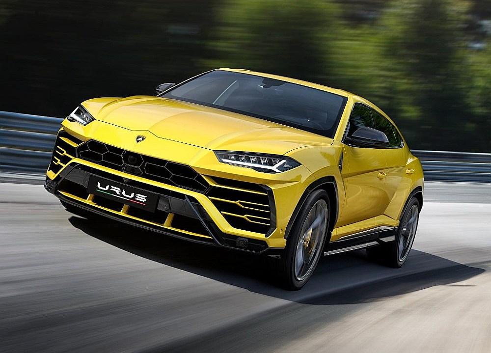 "Pasaulē visātrākais sērijveida apvidus auto ""Lamborghini Urus""."