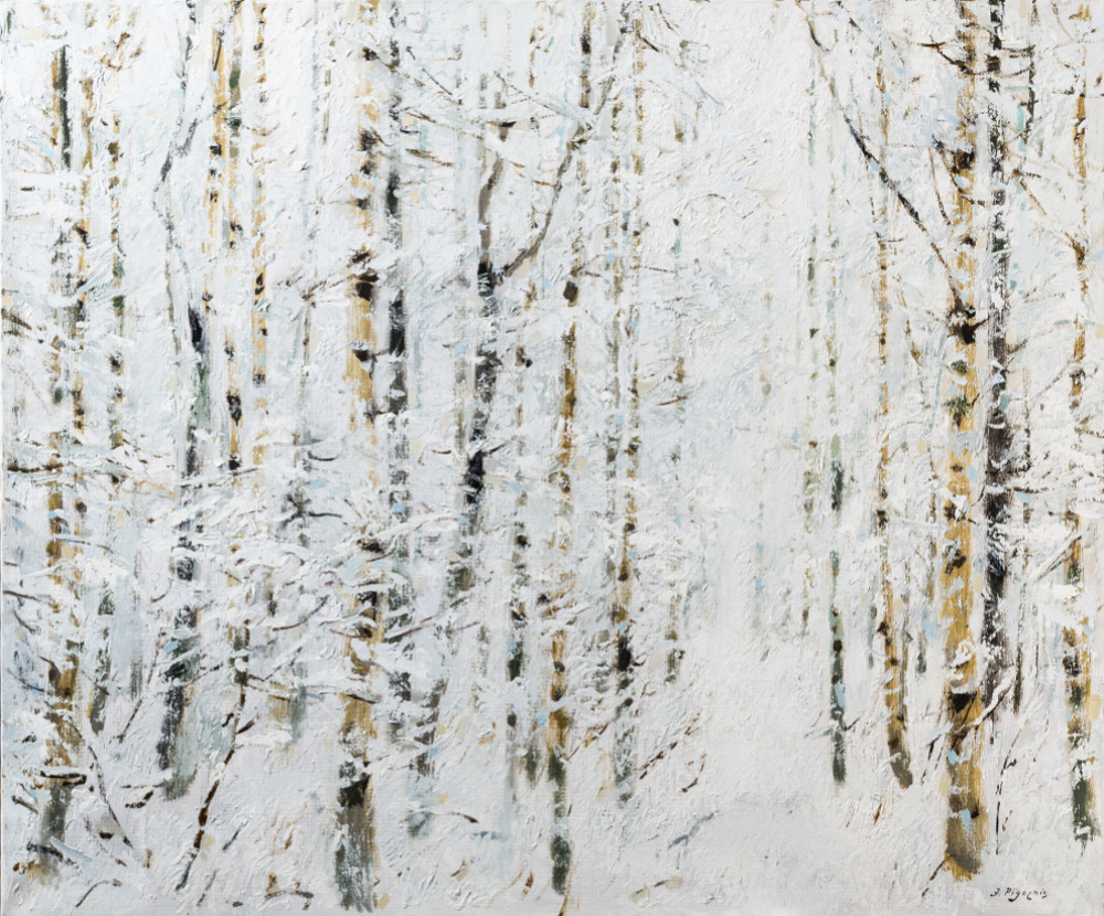 "Jāzepa Pīgožņa glezna ""Pa baltbaltu mežu"" (2012. gads)"