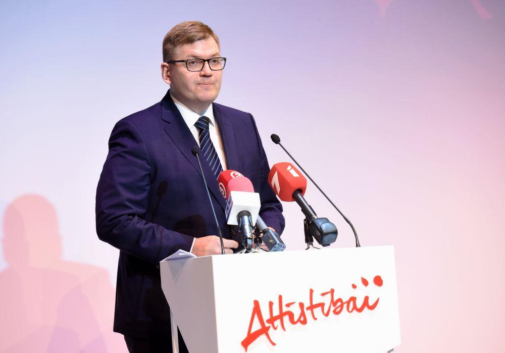 """Partijas """"Latvijas attīstībai"""" valdes priekšsēdētājs Juris Pūce"""