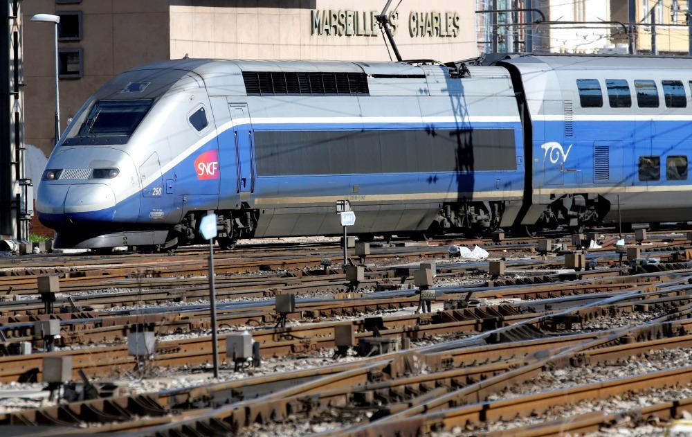 Dzelzceļa stacija Marseļā, Francijā, 14.03.2018.