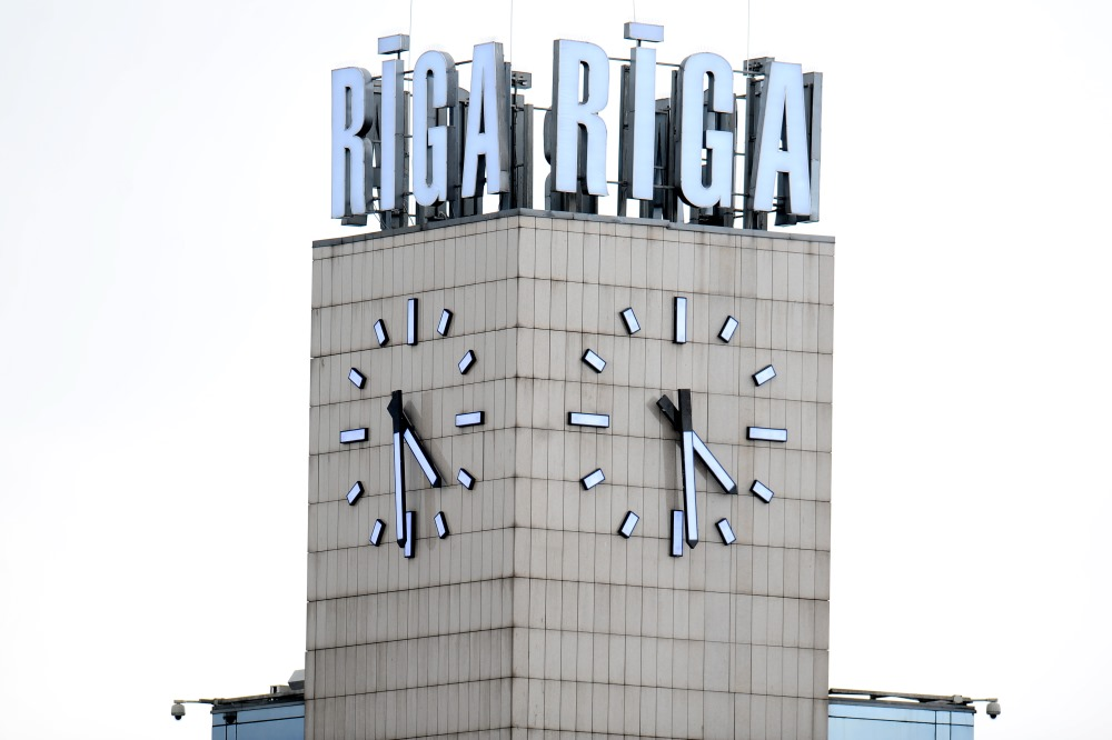 Rīgas Centrālās stacijas pulkstenis.