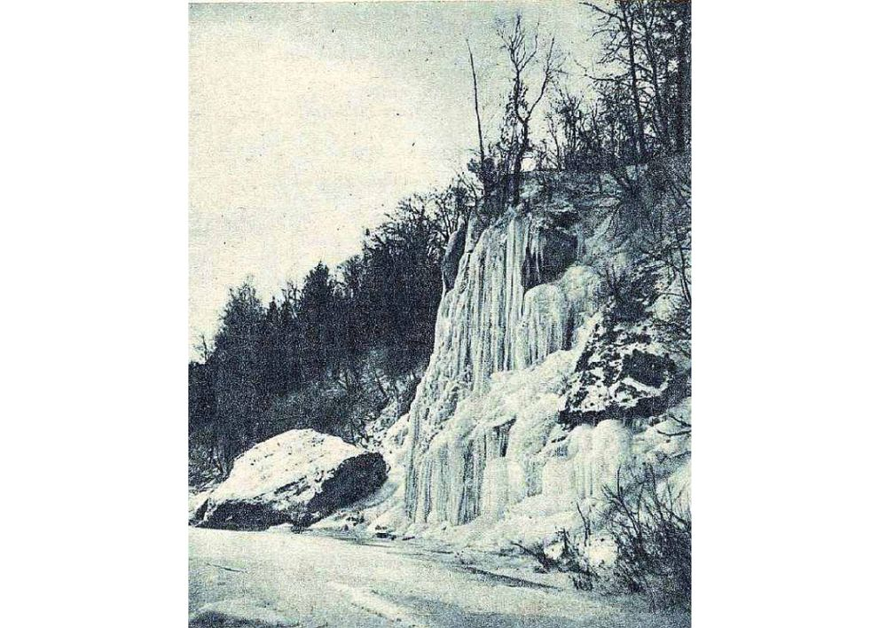 Staburags ziemā 30. gados.
