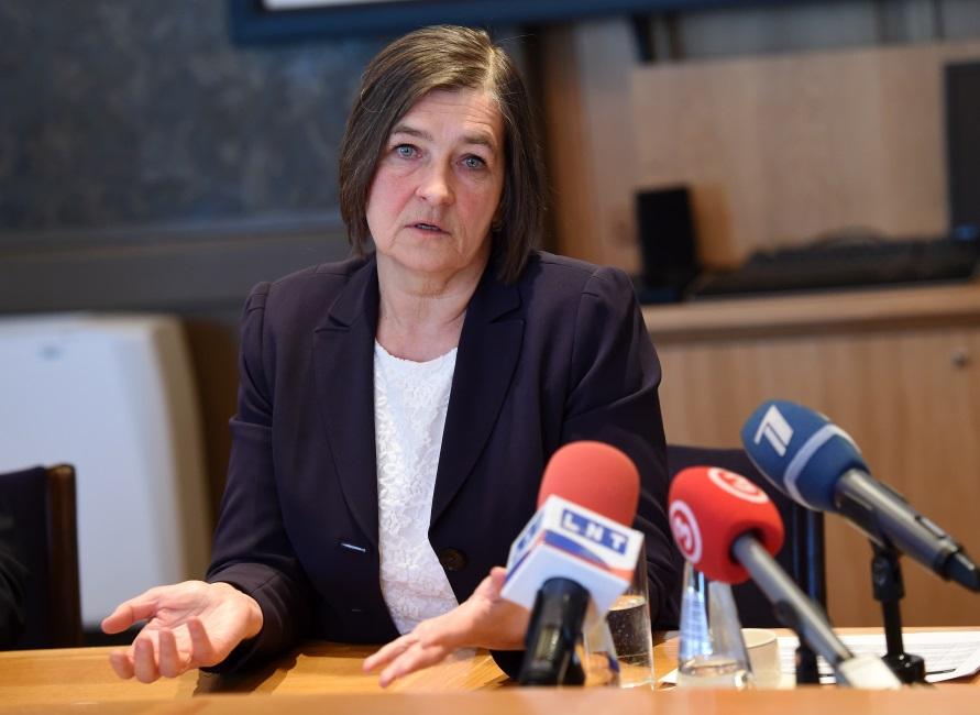 Latvijas Bankas prezidenta vietniece Zoja Razmusa.