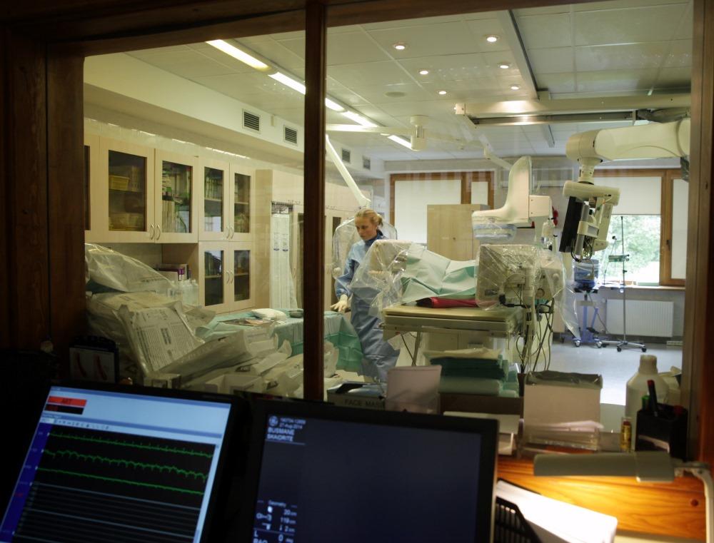 Arhīvs.  PKUS Transplantācijas centrā notiek cilmes šūnu trransplantācija.