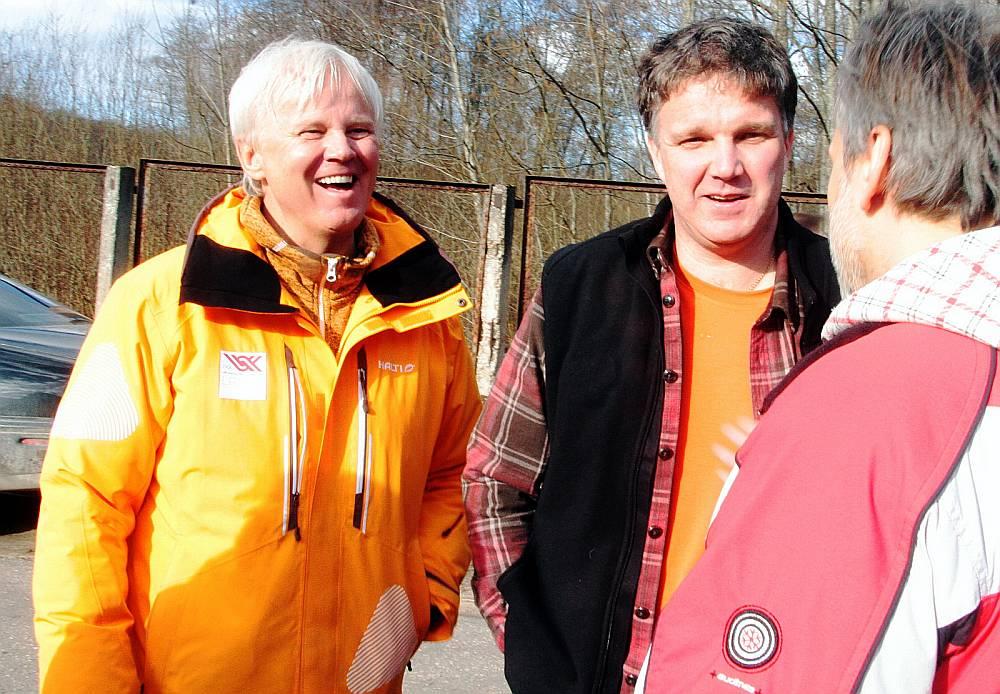 Jānis Kols (no kreisās) gatavs darbu turpināt vienīgi kopā ar Sandi Prūsi.