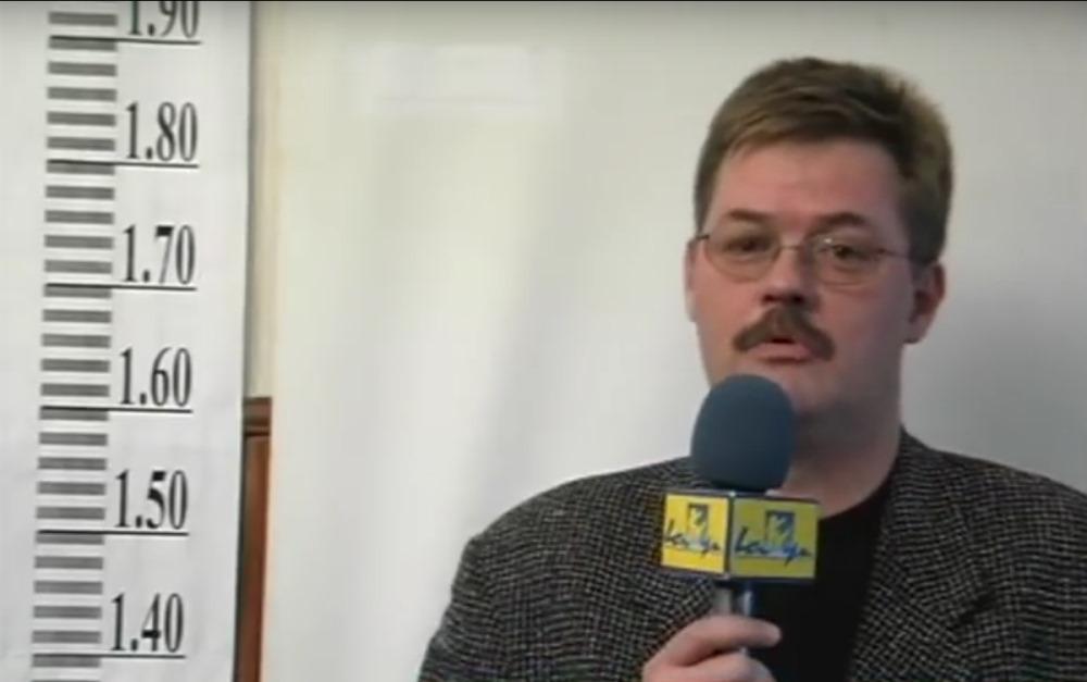 """Kārlis Seržants, filmējot reportāžu LTV """"Panorāma""""."""
