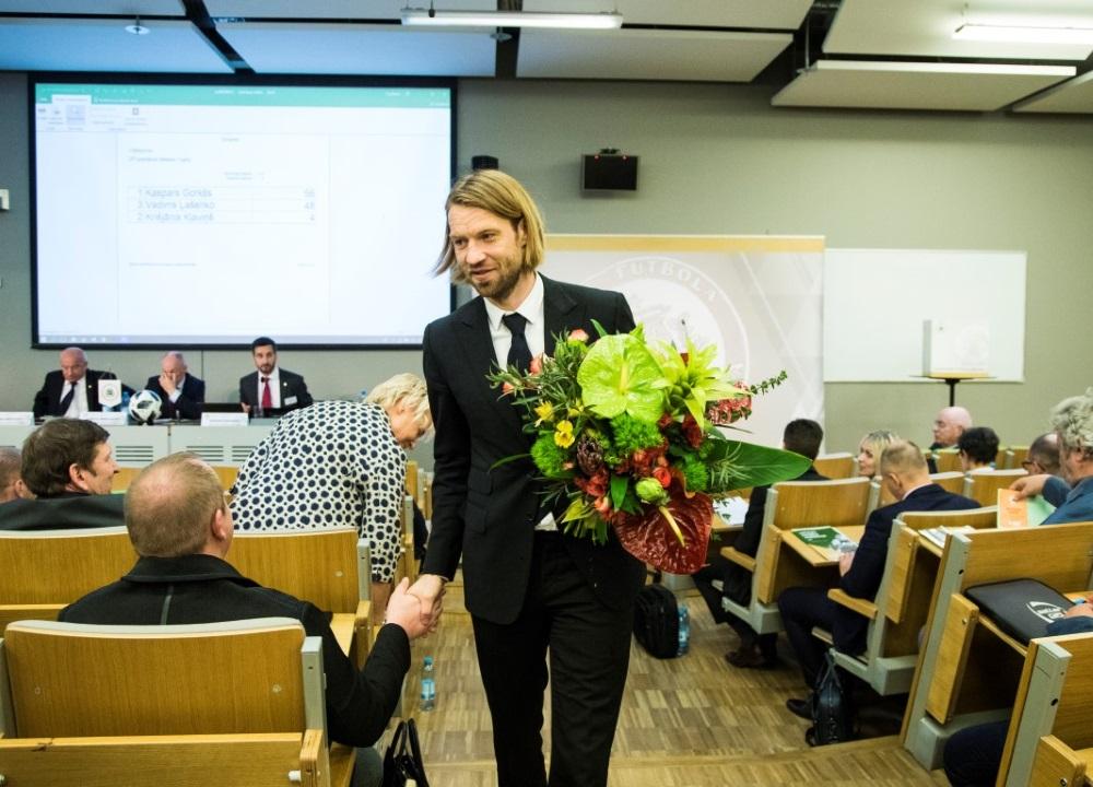 Par jauno LFF prezidentu ievēlēts Kaspars Gorkšs, 27.04.2018.
