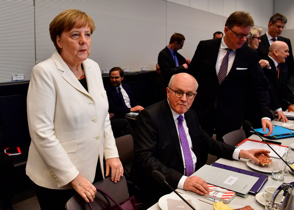 Vācijas kanclere Angela Merkele kārtējā CDU sanāksmē.