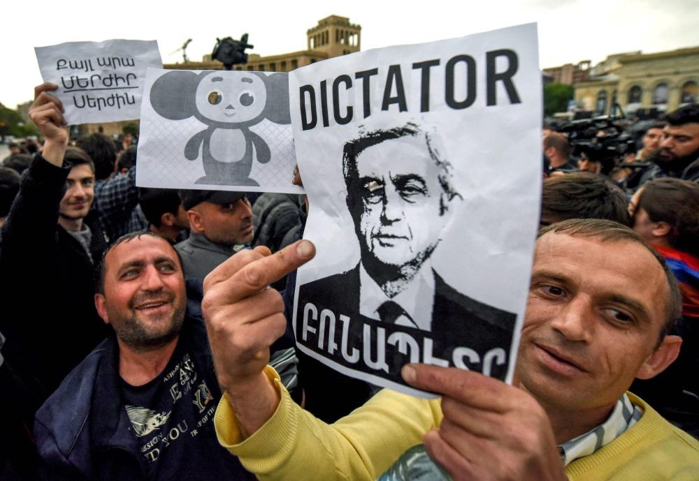 Tautas protesti Armēnijā, 19.04.2018.