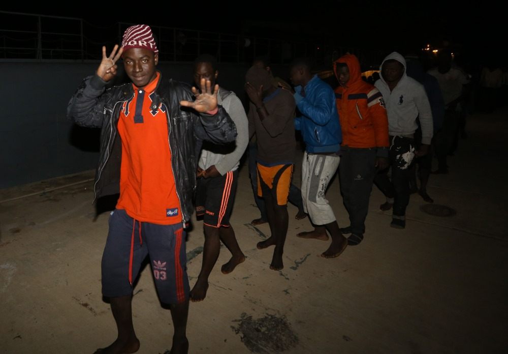 Migranti Lībijas piekrastē, 01.02.2018.