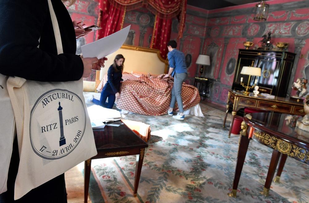 """Izsole Parīzes leģendārajā viesnīcā """"Ritz""""."""
