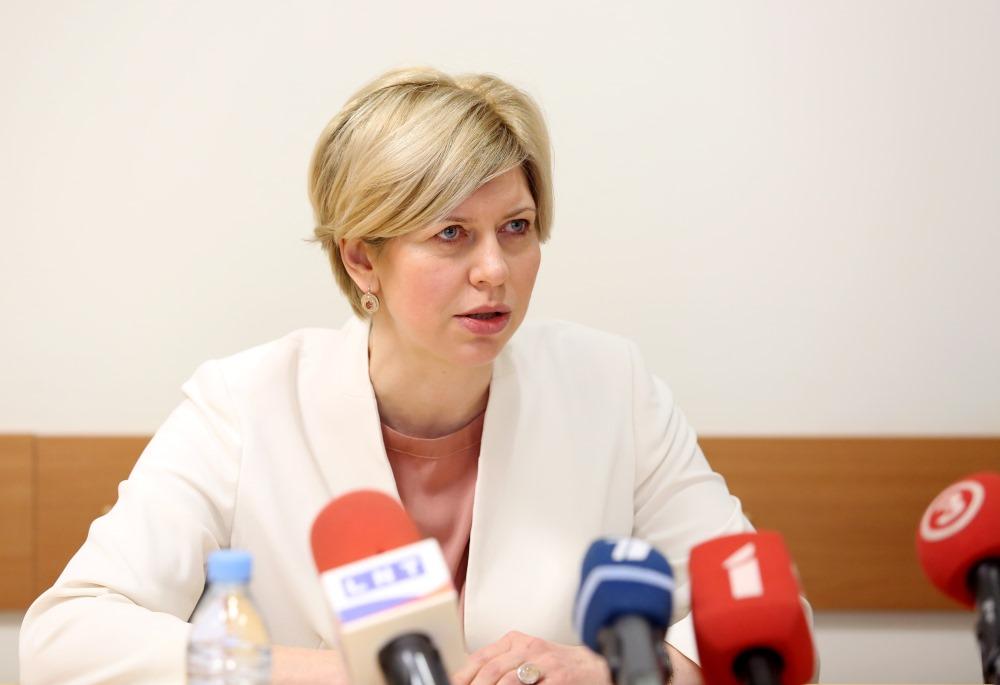 Veselības ministre preses konferencē, 05.04.2018.