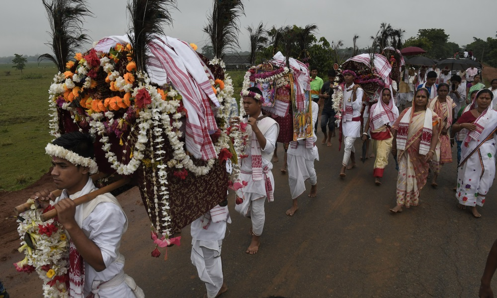 Ilustratīvs foto. Svētku ceremonija Indijā, 20.04.2018.