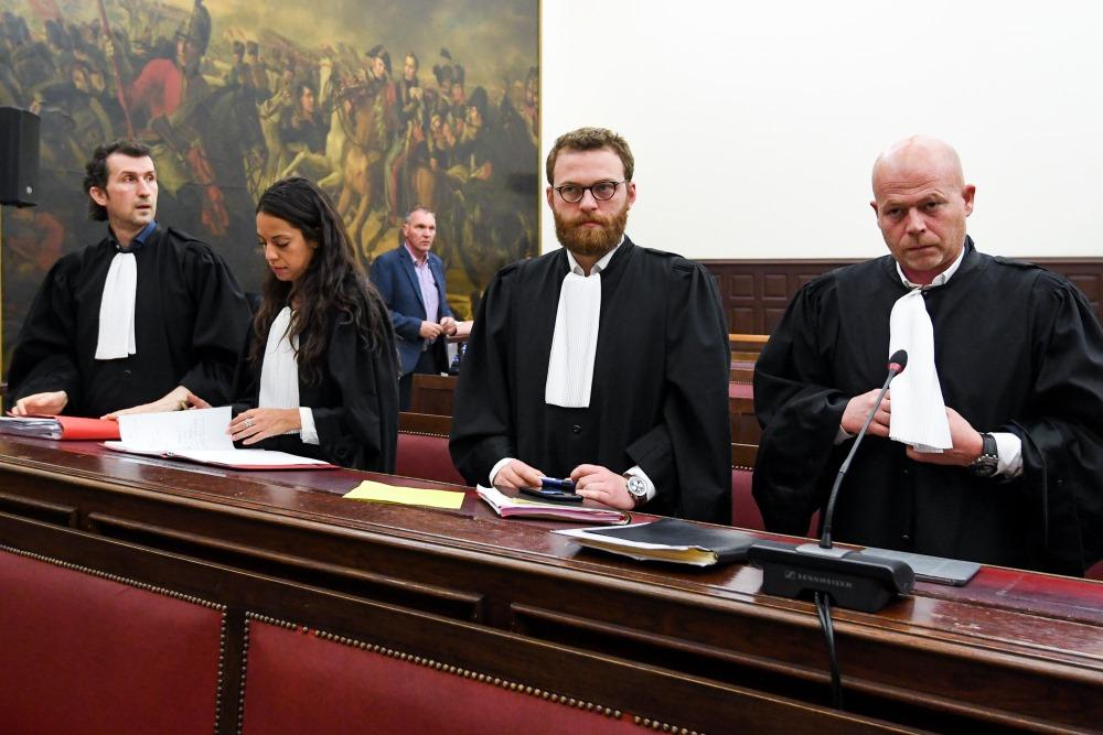 Tiesa Beļģijā, Briselē, kur izskata Parīzes terorakta lietu, 23.04.2018.