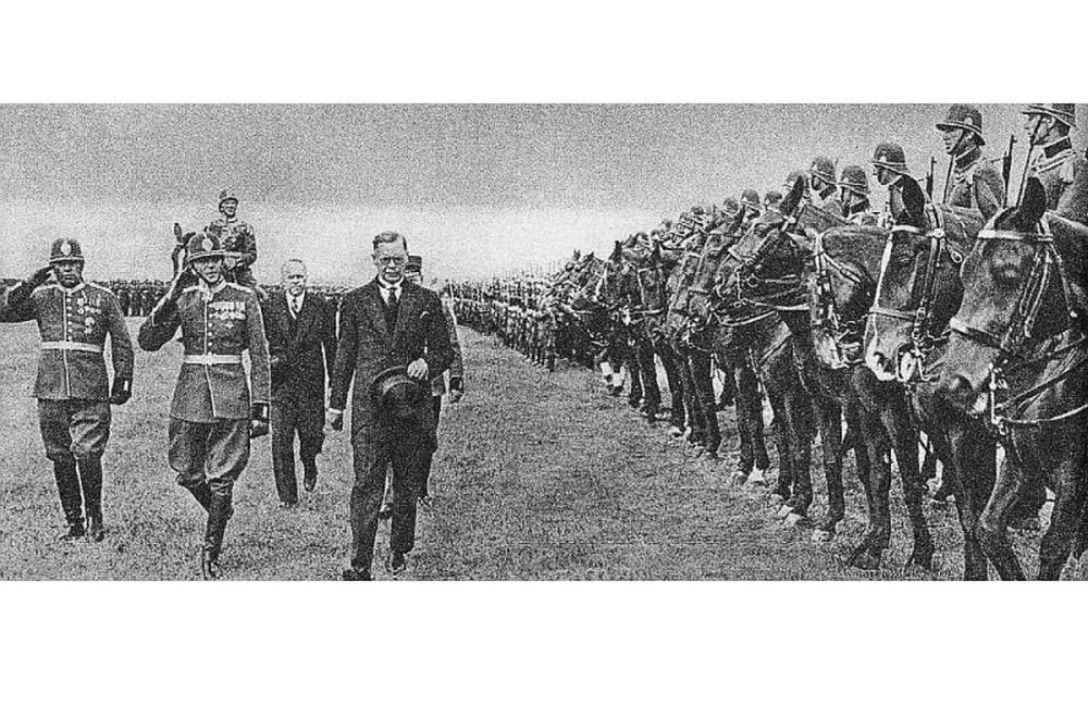 Jātnieku policijas ierinda 1938. gadā.