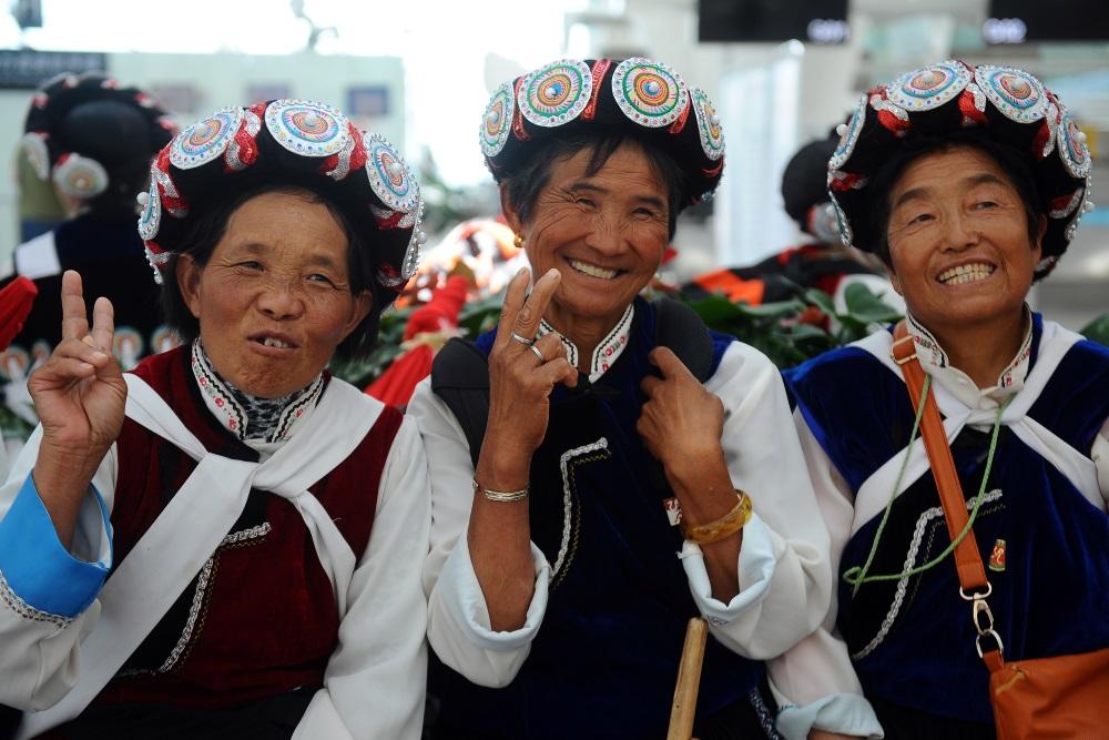 Cilvēki Ķīnā.
