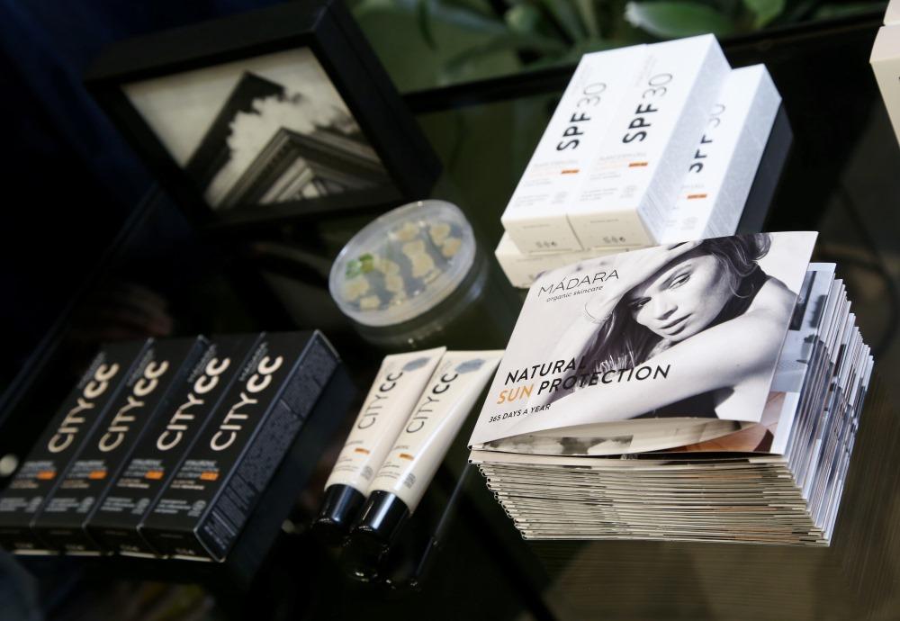 """Latvijas uzņēmuma """"Madara Cosmetics"""" skaistumkopšanas produkti, 07.03.2018."""