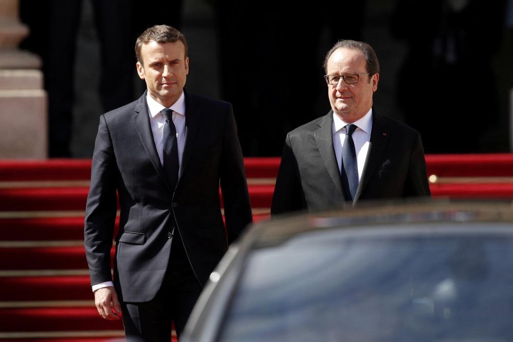 Bijušais Francijas prezidents Fransuā Olands brīdinājis savu sekotāju amatā Emanuelu Makronu neaizmirst, ka franču monarhi zaudēja savas galvas giljotīnās, 11.04.2018.