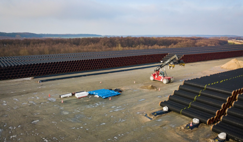 """""""Nord Stream 2"""" gāzesvada izbūve, Rīgenas salā, Vācijā, 23.03.2018."""