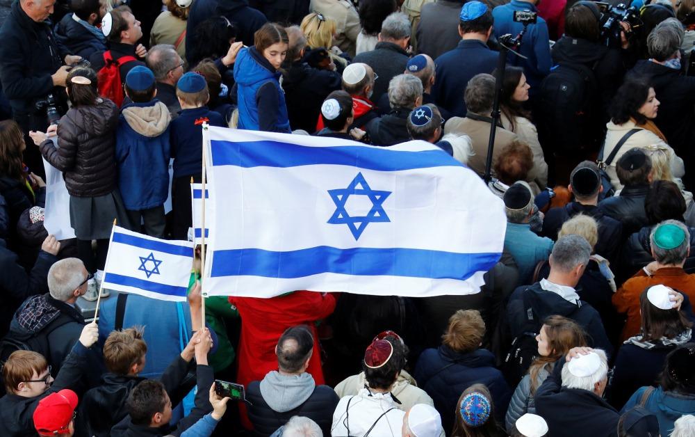 Vācijā vairākās pilsētās, to starp Berlīnē notika plašas demonstrācijas pret antisemītsmu, 25.04.2018.