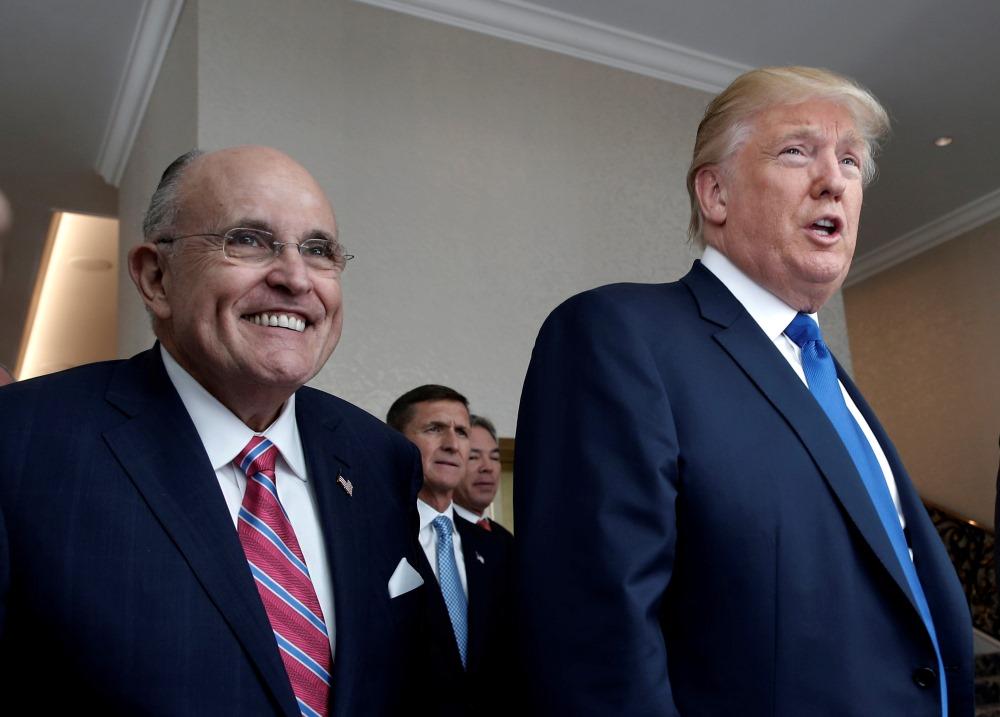 Bijušais Ņujorkas mērs Rūdijs Džuliāni ir pievienojies ASV prezidenta Donalda Trampa personīgajai juridiskajai komandai, 20.04.2018.