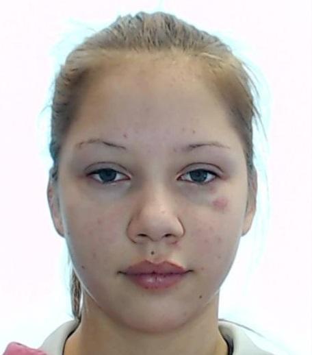 Valsts policija aicina palīdzēt meklēt Samantu Pūciņu, kura 2018.gada 13.aprīlī izgāja no mājām Ventspilī.