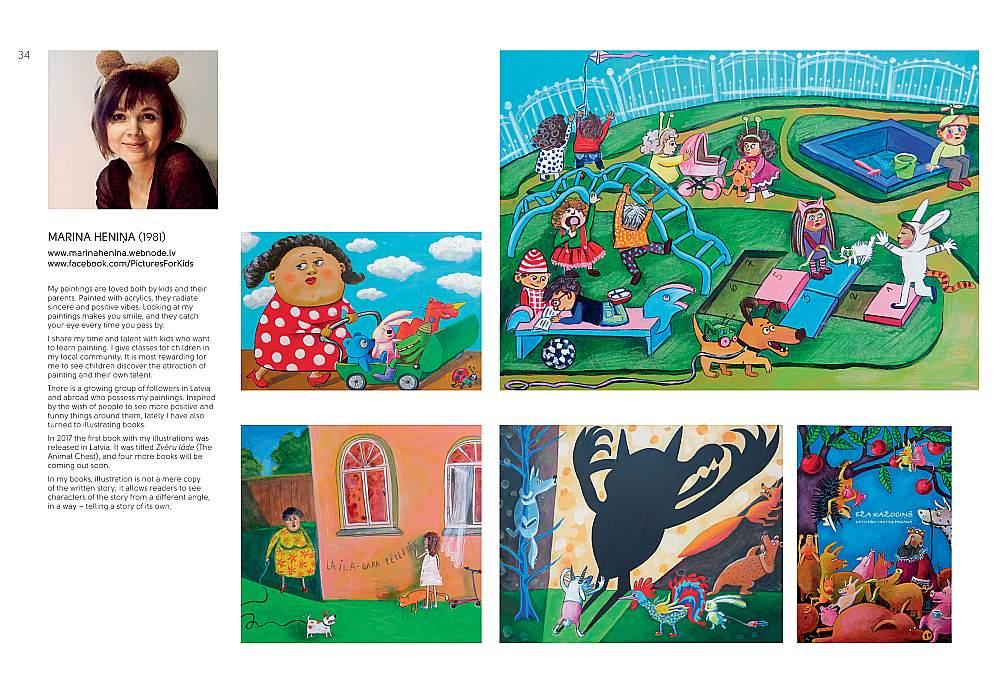 """Izdevniecība """"Latvijas Mediji"""" lepojas, ka šajā katalogā pārstāvēti daudzi mākslinieki, kuru ilustrācijās atdzīvojušies arī mūsu grāmatu varoņi."""