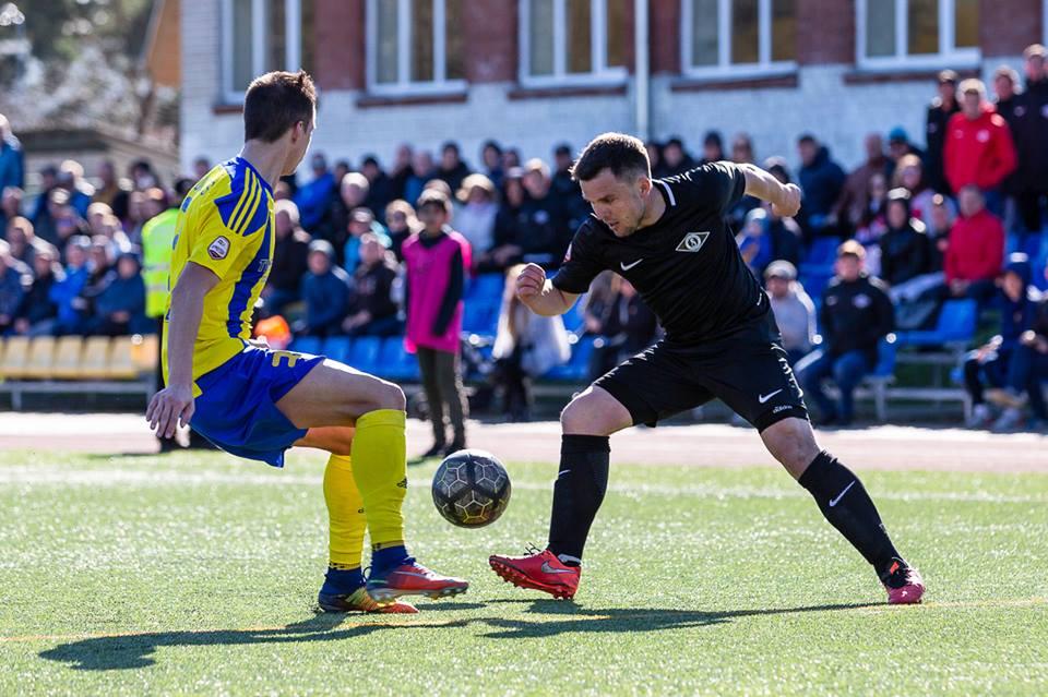 """Jurijs Žigajevs (pa labi) cīņā pret bijušo komandu FK """"Ventspils"""""""