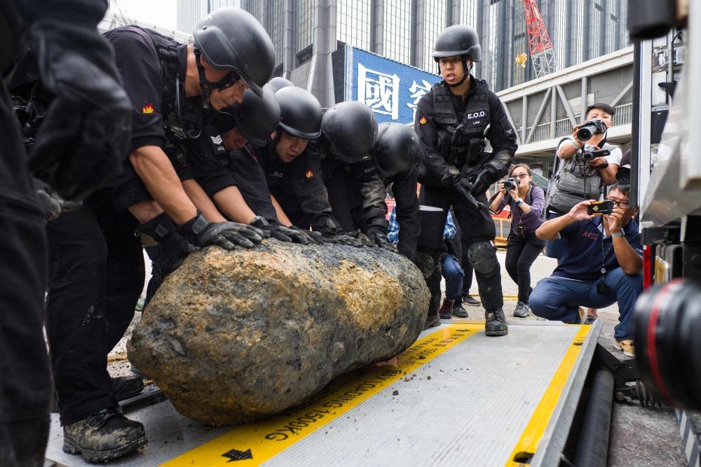 Šī ir trešā kara laika bumba, kas šogad atrasta Honkongā, 10.05.2018.
