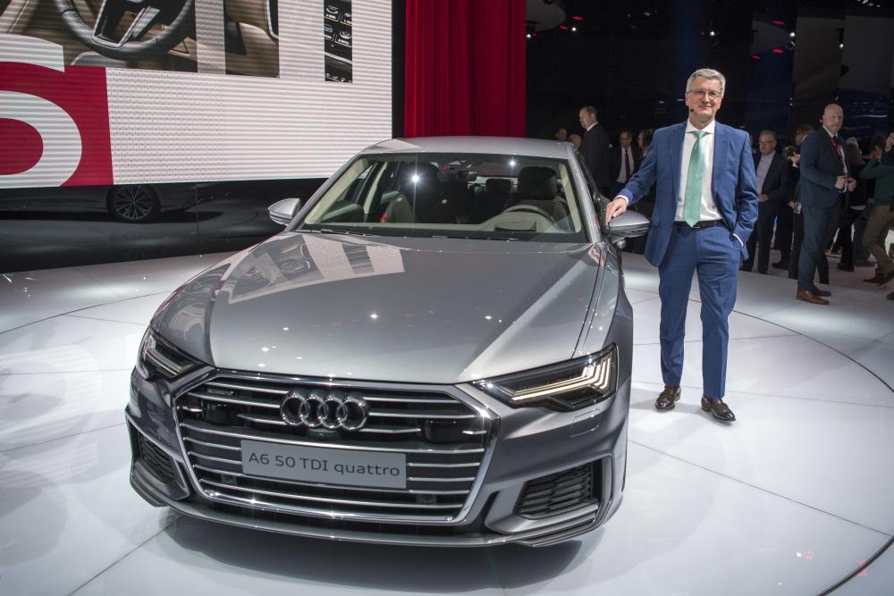 Audi A6 jaunā modeļa prezentācija, 06.03.2018.