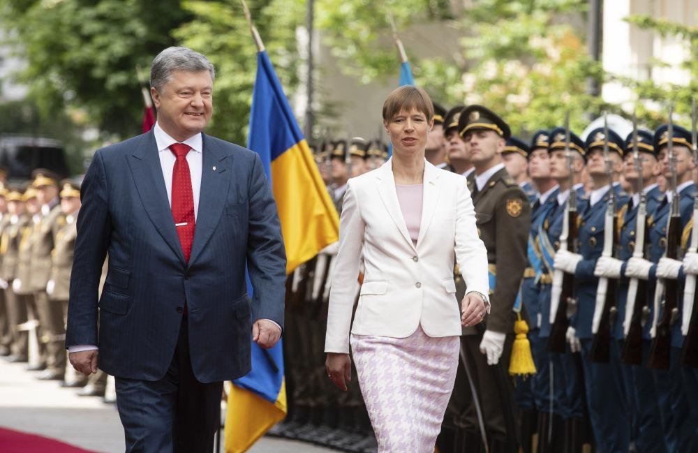 Igaunijas prezidente Kersti Kaljulaida vizītē Ukrainā, 22.05.2018.
