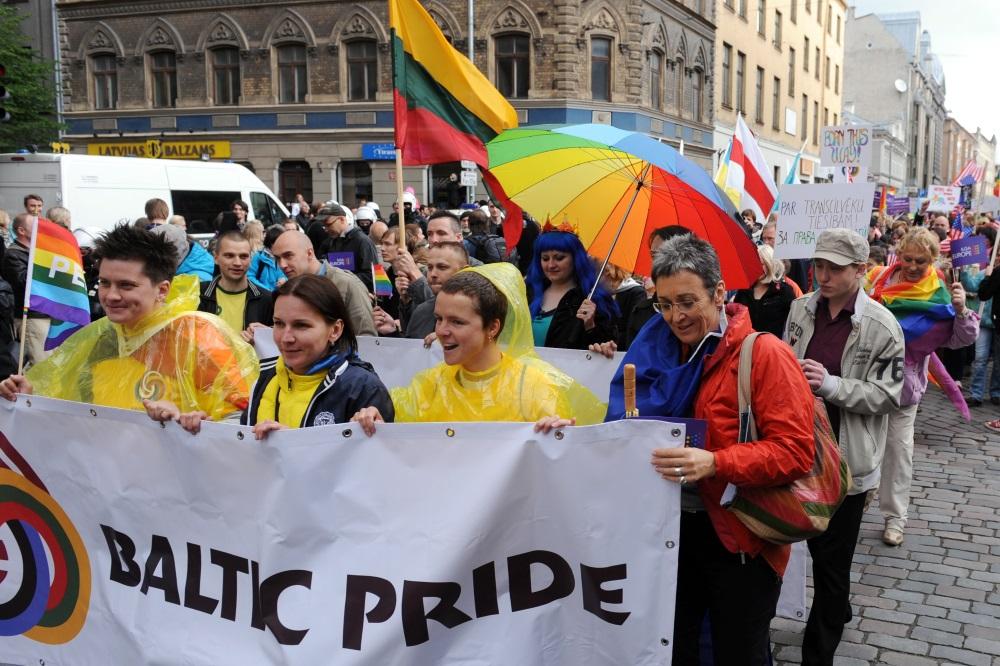"""Arhīva foto. """"Baltijas praids"""" 2012.gadā Rīgā."""