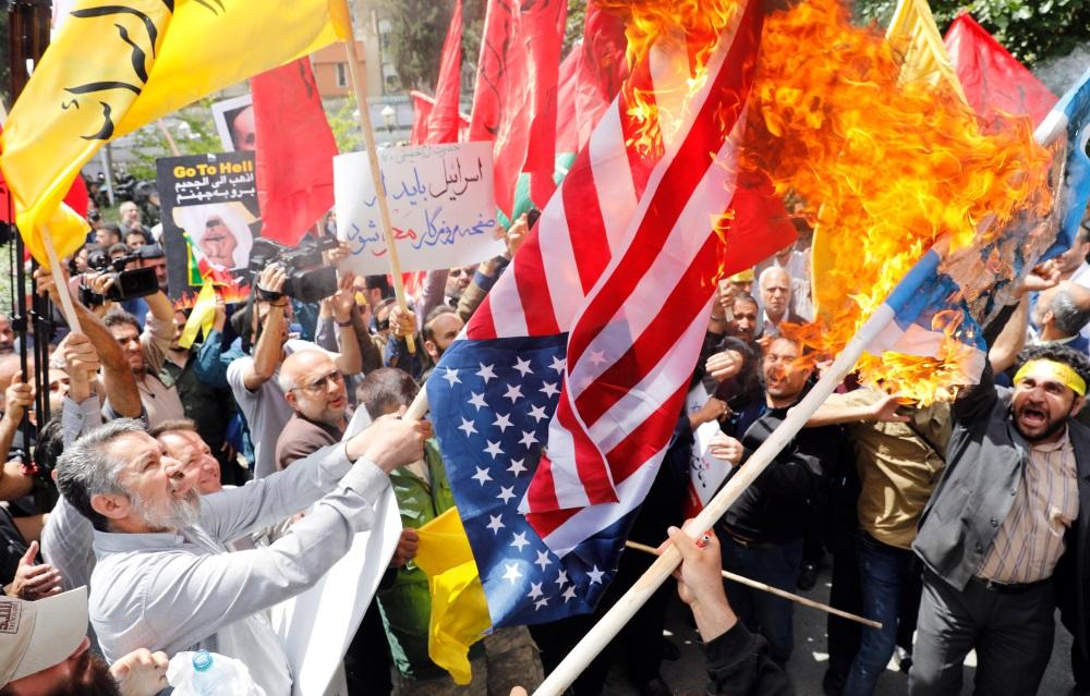 Protesti pret ASV vēstniecības pārcelšanu uz Jeruzalemi, 16.05.2018.