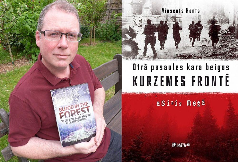 """""""Vēlējos apceļot Kurzemi, lai pēc tam varētu angļu publikai izstāstīt, kas Otrā pasaules kara laikā notika vienā vai otrā vietā,"""" teic BBC žurnālists Vinsents Hants, grāmatas """"Blood in the forest"""" (""""Asinis mežā"""") autors. """"Es sapratu, ka Kurzemes fronte bija kas līdzīgs Pirmā pasaules kara ellei, saspiestai ap 200 km posmā."""""""