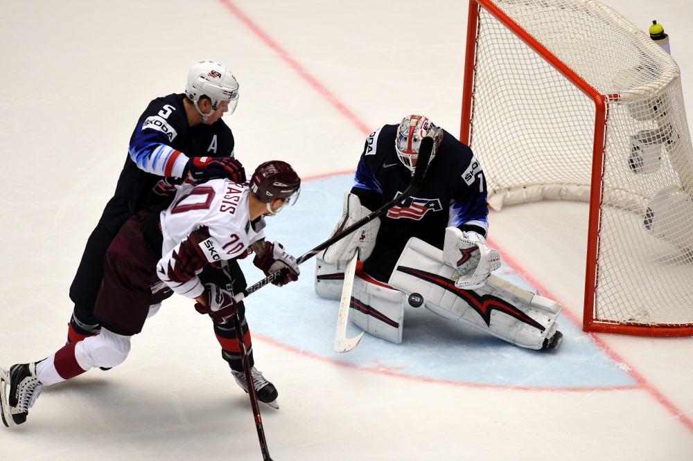 Pasaules čempionāta spēle hokejā, Latvija pret ASV, Herningā, 10.05.2018.